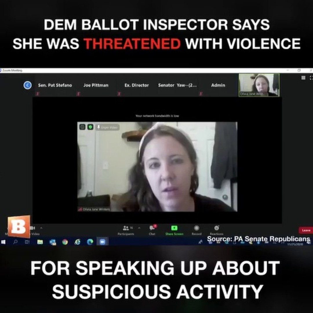 Election Fraud Exposed – Democratic Ballot Inspector Threatened With Violence