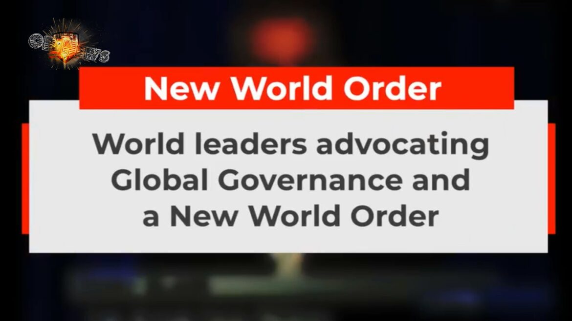 """Listen to World Leaders Discuss the """"New World Order"""""""