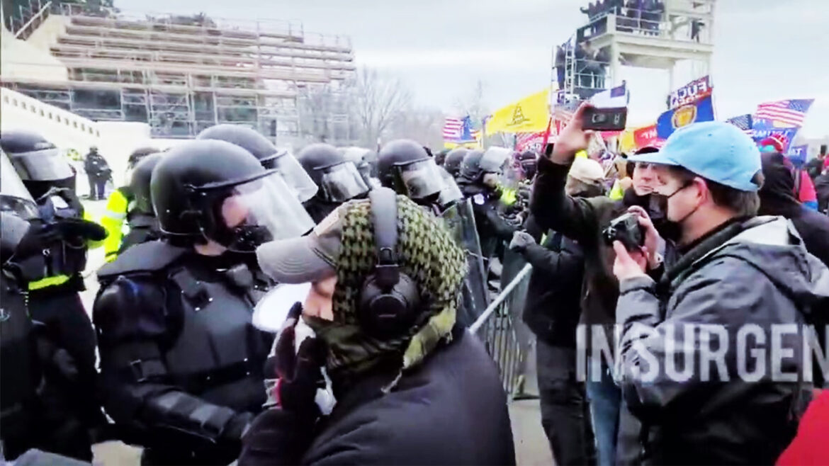 Leaked: Protesters Confront the Police at the U.S. Capitol