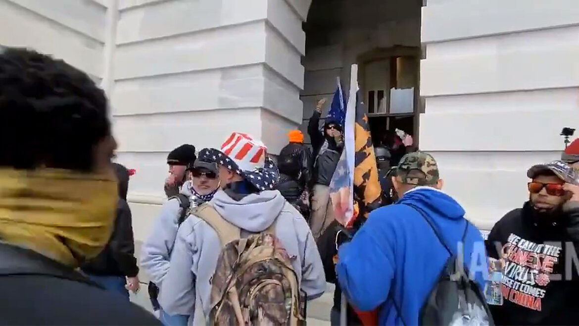 Leaked: Protesters Breaking Into the U.S. Capital Doors and Storming the Building