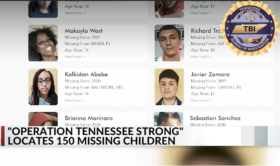 150 Missing Kids Found In Tennessee Under Operation 'Volunteer Strong'