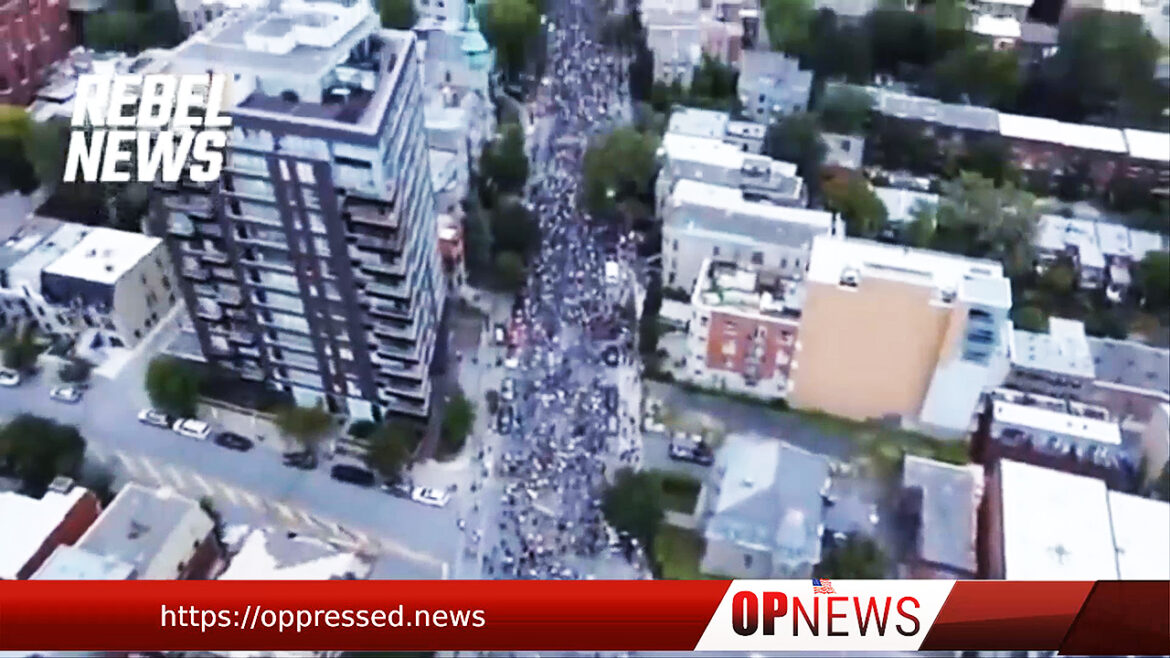Quebecers Fill the Streets of Montreal to Protest Against Vaccine Passports